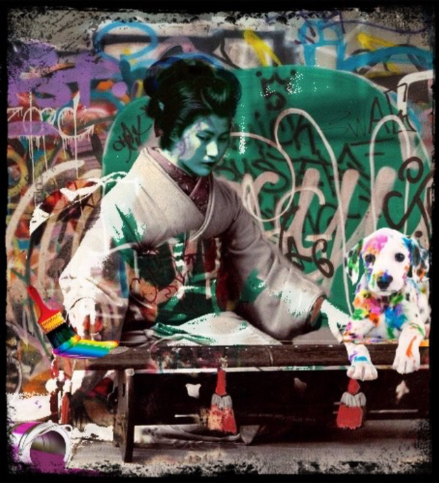 #freetoedit #paint#geisha#graffiti