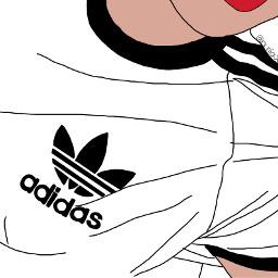 adidas outline art sport
