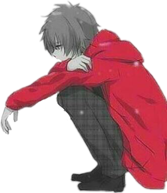 anime boy anineboy sad depressed depression red