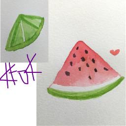 watercolors katoka katokachan katokateam watermelon