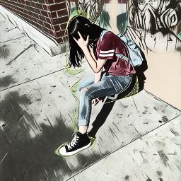 freetoedit obey graffiti sick girl