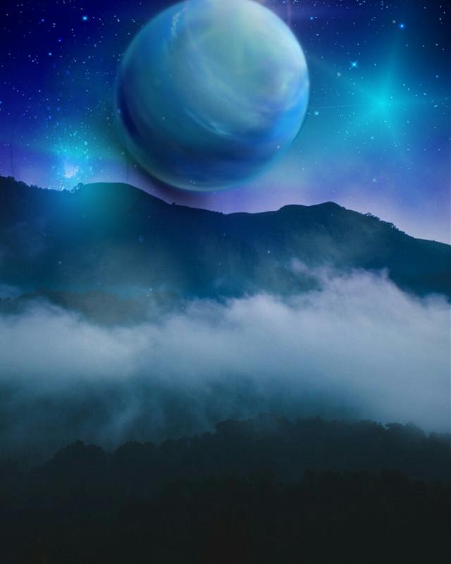 #freetoedit #nature #landscape #nightsky #sky #skylovers #skyporn #hue #howihue #blues #myedit #madewithpicsart