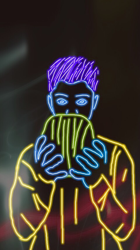 I know that this looks funny  So i was trying to do SoMtHiNg DiFfeReNt but it turned out really bad so yea that's my story but hopefully I will get better at this ❤  #freetoedit  #danielseavey #neon #drawing #neondrawing #whydontwe #watermelon   @seaveydaniel-