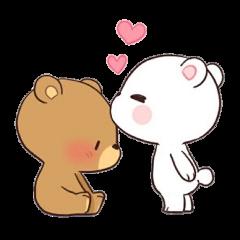 kiss bears cute osos love freetoedit