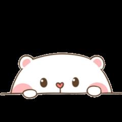 cute bear sticker kawaii pink freetoedit