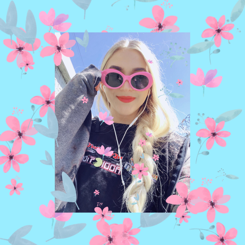 #freetoedit #floral #spring #flowers #pastel #pretty #braid #blonde #girl #flowerpower