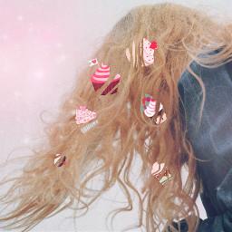 desserthair freetoedit hair sweet pastel