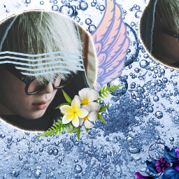 jimin bts floral wings water freetoedit