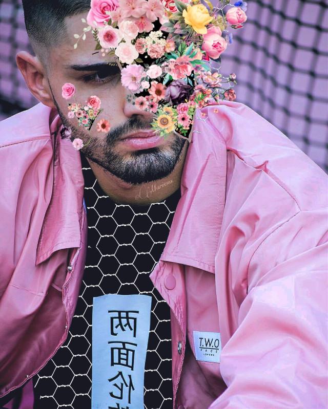 flowerguy 😁😁 #freetoedit #guy #boy #pink #flower #human #