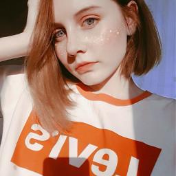 freetoedit cute girl colorsplash tumblr