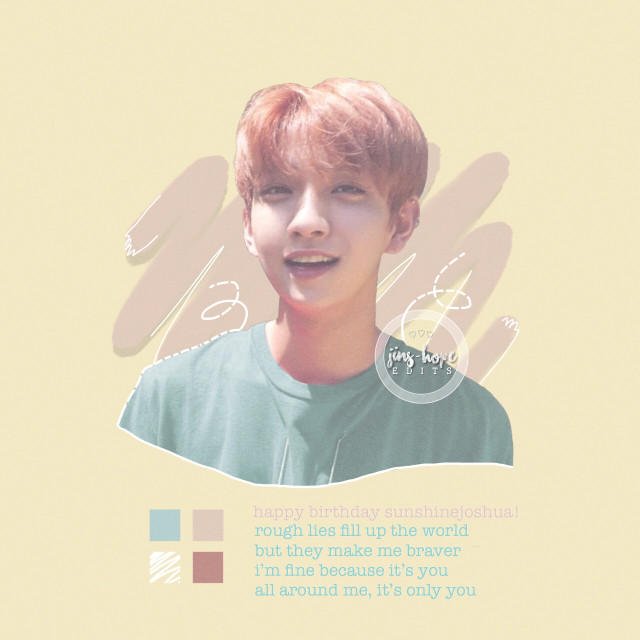 happy birthday @sunshinejoshua !!! i hope you have an amazing dayy!! let me just say, you have a really amazing friend! i hope you two stay best friends forever! 💖💖  requests are closed!!  also, this is for @huskychim #huskychimbrushcontest ! 💖💖  #seventeen #seventeenkpop #seventeenjoshua #hongjisoo #jisoo #joshua #shua #kpop #pastel #edit #kpopedit #birthdayproject   inspired by winter-moment 💖
