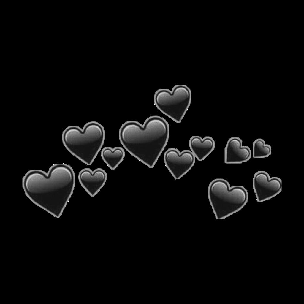 Black Heart Emoji Crown Emojicrown Crown Edit