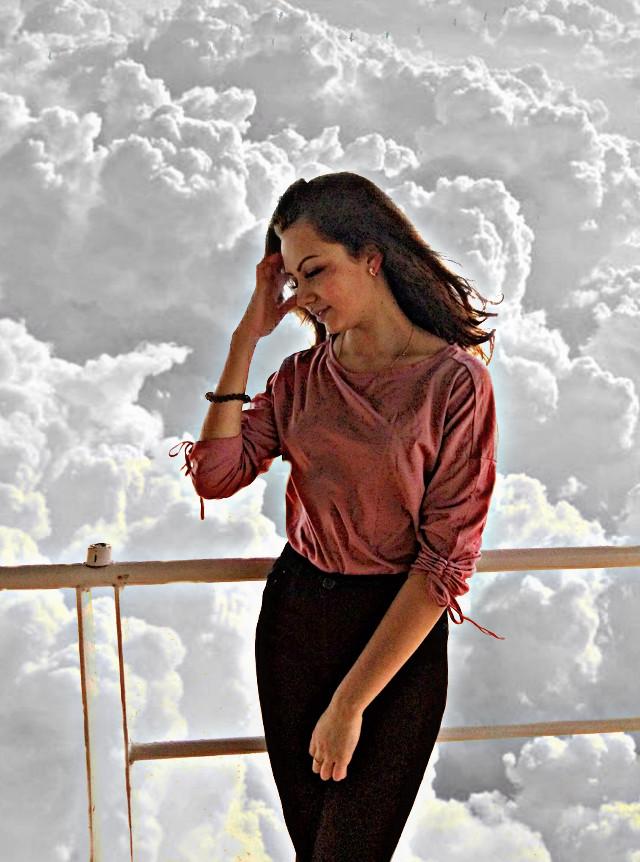 #freetoedit #editedphoto #myedit #interesting #sky #clouds #woman