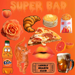 freetoedit collage orange cute