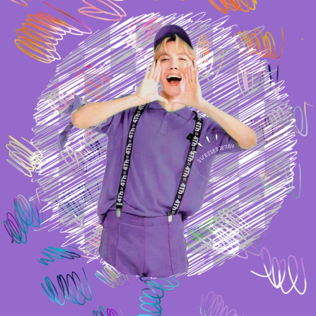 #freetoedit #purple #jhope #junghoseok #hoseok #hobi #scribble #grid #bts #cute #happy #bangtanboys #beyondthescene #4thmuster