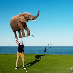 freetoedit golfersday picsart golf elephant ircgolfersday