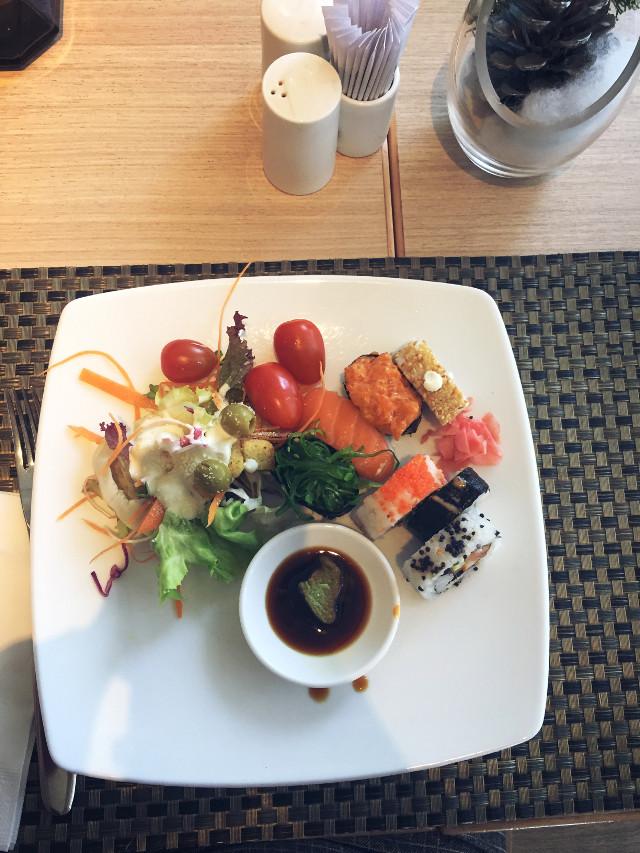 healthy food for healthy life #freetoedit #sushi #food #lunch #freshfood #healthy #enjoy #yummy