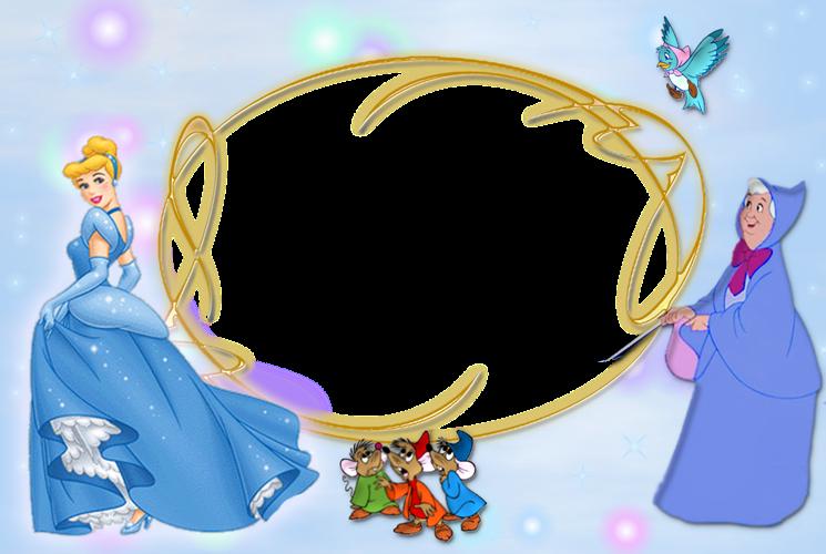 Cinderella frame - Sticker by jackie g