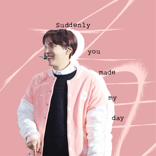 I want to talk to you guys more in captions but i dont know what to say! #freetoedit #hoseok #junghoseok #pink #soft #suddenlyyoumademyday #jhope #bts #bangtanboys #soft #beyondthescene #white #black #line
