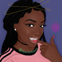 like4like cartoon braids slay slayqueen