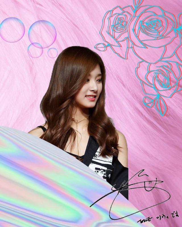 #freetoedit #twice #tzuyu #sign #pink #silver #flower #black #cute #korea