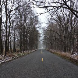 michigan weather april snow road