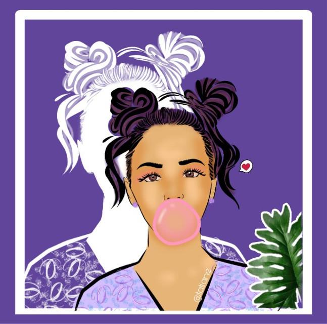 #freetoedit #mydrawing #girl #chicle #peinado #madewithpicsart #people #cute