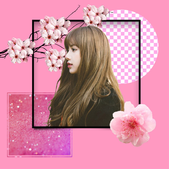 #freetoedit #remix #remixit #pink #pinkflower #pinkflowers #cherryblossom #cherryblossoms #blacksquare #kpop #kpopgirl @fitna00