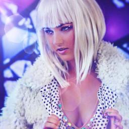 lensflair beautiful woman disco white