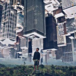 upsidedown buildings freetoedit remixit