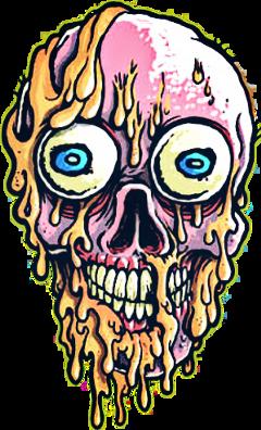 skull calavera skulls zombie acid freetoedit