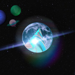 freetoedit space planets blue green