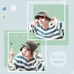 namjinpastelchallenge Jhope bts hobi junghoseok hoseok bangtansoyeondan green blue white btsjhope pasteleffect freetoedit