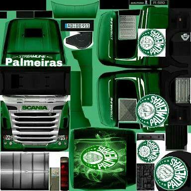 Skin Grand Truck Simulator Palmeiras Freetoedit