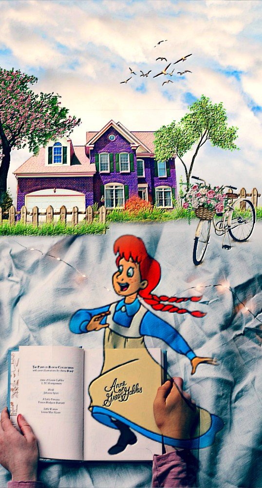 #freetoedit @pa #ircreading #reading #myedit #book #story #house #bike #tree #birds #clouds #sky #emboseffect