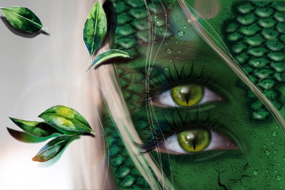 #freetoedit #reptil #green