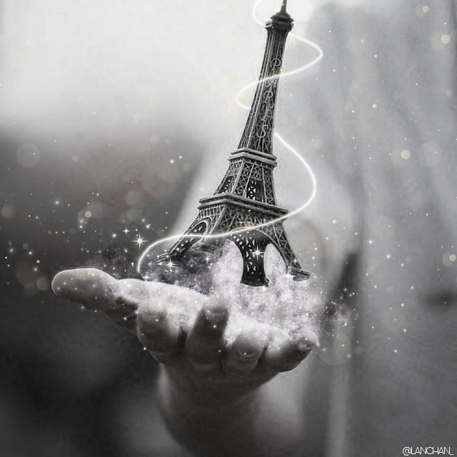 #freetoedit #paris #blackandwhite #sprincles #eiffeltower #flow #black & white #magic