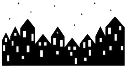 houses buildings city night stars freetoedit
