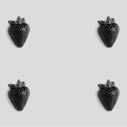 freetoedit sketcher2effect blackandwhite strawberries poparteffect