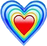heart blue green yellow red freetoedit