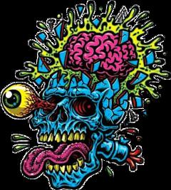 freetoedit skull skulls calavera zombie