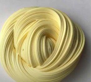 Slime swirl. Banana yellow icecream