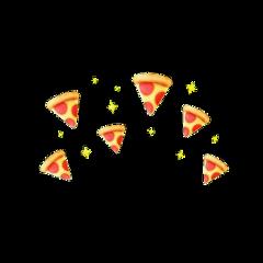 pizza head crown food png freetoedit