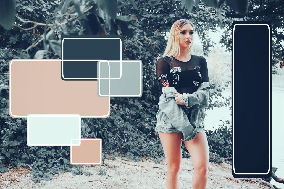 #tumblr #squares #drawn #girly #swag #cute #beige #skin #blueeyes