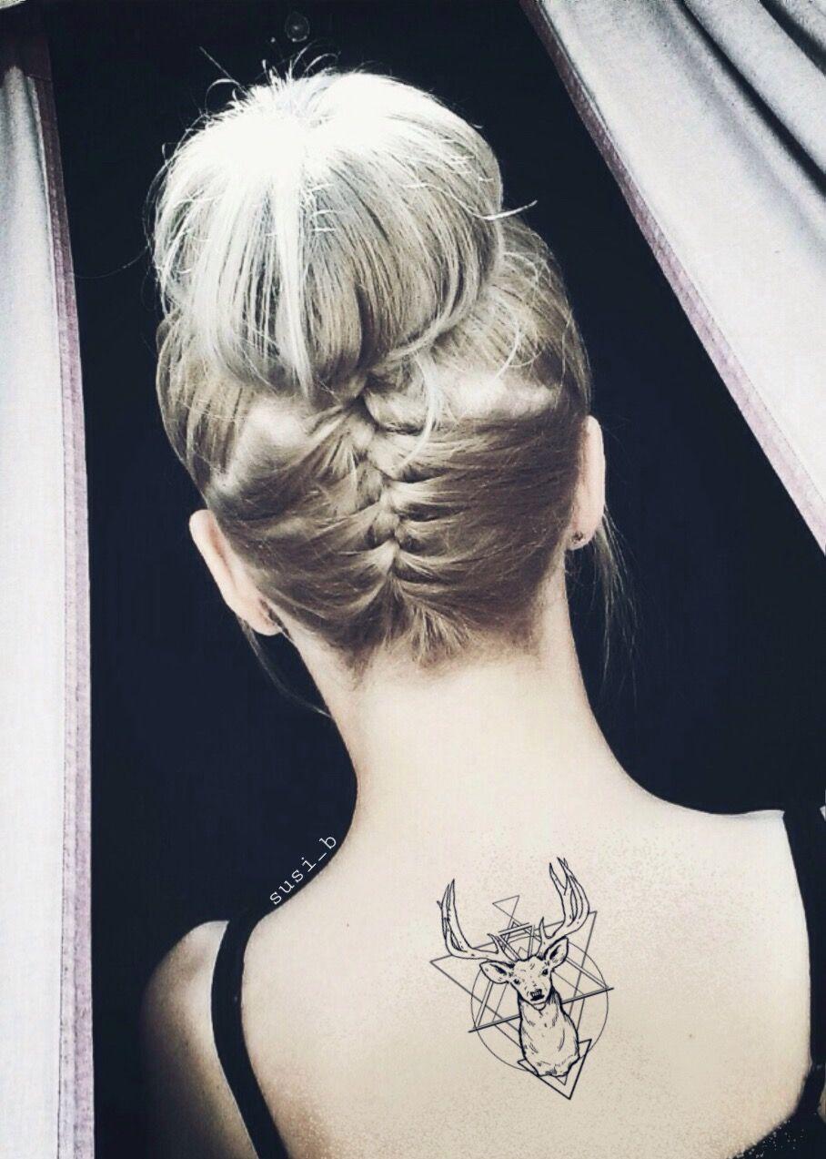 Freetoedit Tattoo Girl Messybun Braid Tumblr Minimalist