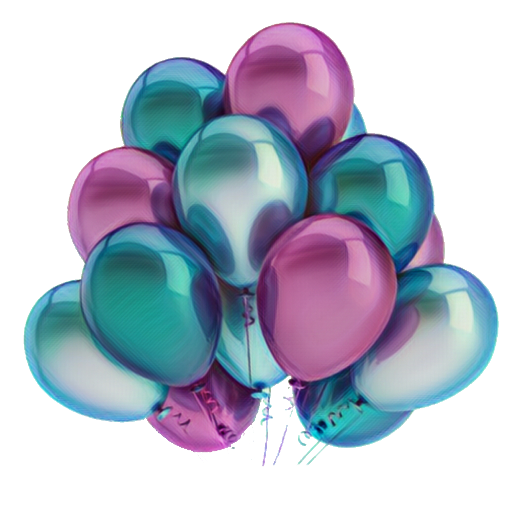 Globos colourful png sticker tumblr hbd happybirthday