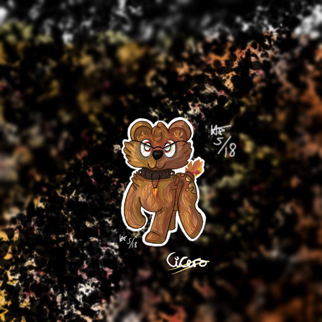 🍁Cicero🍁  This is Cicero^ :) Cicero is a bear. Hes very intelligent and tbh quite shady- but only if hes dealing with an utter prick.  For @jackalelf 's contest :)  I actually fell in love with this oc while I made him, so expect to see more of Cicero :) Named him Cicero after the Roman lawyer, who's one of my favourite people in Classics. He basically crops up in just about every topic we've covered to sass the latest knob in ancient Rome.  Anyway, hope you like it :) And guess who just finished their exams? Me. Glad ive not got to do that again until September when more mocks creep over the horizon.  #hedgehogedits #myart #myoc #mybackground