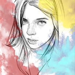 ircbeautifulwoman freetoedit primarycolors