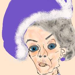 dowagercountess violetcrawley maggiesmith downtonabbey mydrawing dccelebritycaricature