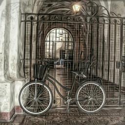 freetoedit bordereffect oilpaintingeffect ilumination bicycle